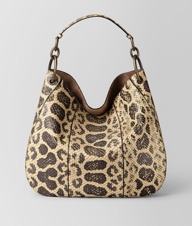 BOTTEGA VENETA SAC LOOP EN ANACONDA NATURAL Sac Hobo [*** pickupInStoreShipping_info ***] fp