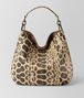BOTTEGA VENETA NATURAL ANACONDA LOOP BAG Hobo Bag Woman fp