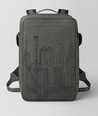 LIGHT GREY INTRECCIATO NORTH-EAST BRICK BACKPACK