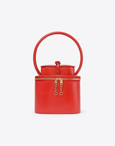 MAISON MARGIELA Mini leather box bag Handbag D f