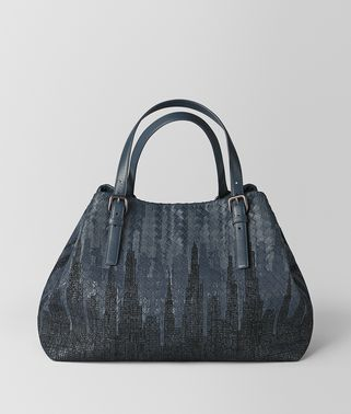 DENIM INTRECCIATO MIDNIGHT CESTA BAG