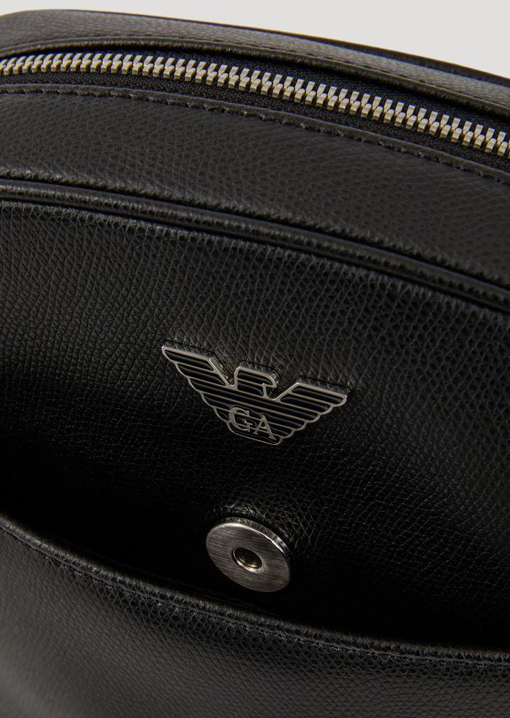 0e70868e55a85 ... Crossbody Bags  Cross body bag in boarded printed leather. EMPORIO  ARMANI