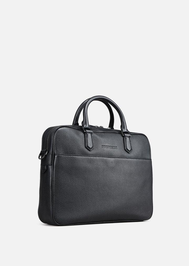 Armani Hammered leather laptop bag aDtLpxkJIF