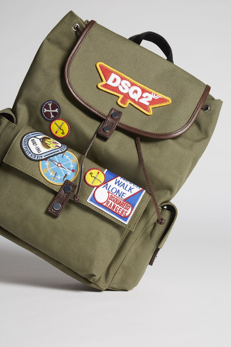 3c5fc40913d0 DSQUARED2 Bad Scout Military Trimmed Backpack Backpack Man