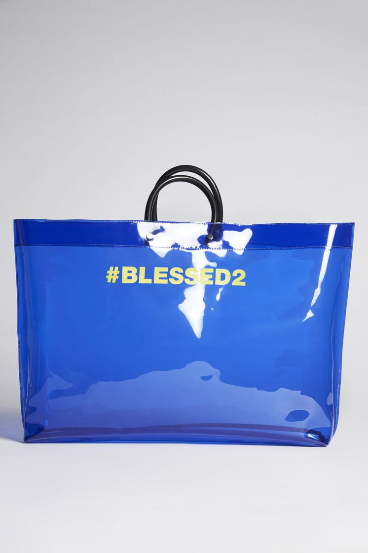 Blessed2 shopper tote - Blue Dsquared2
