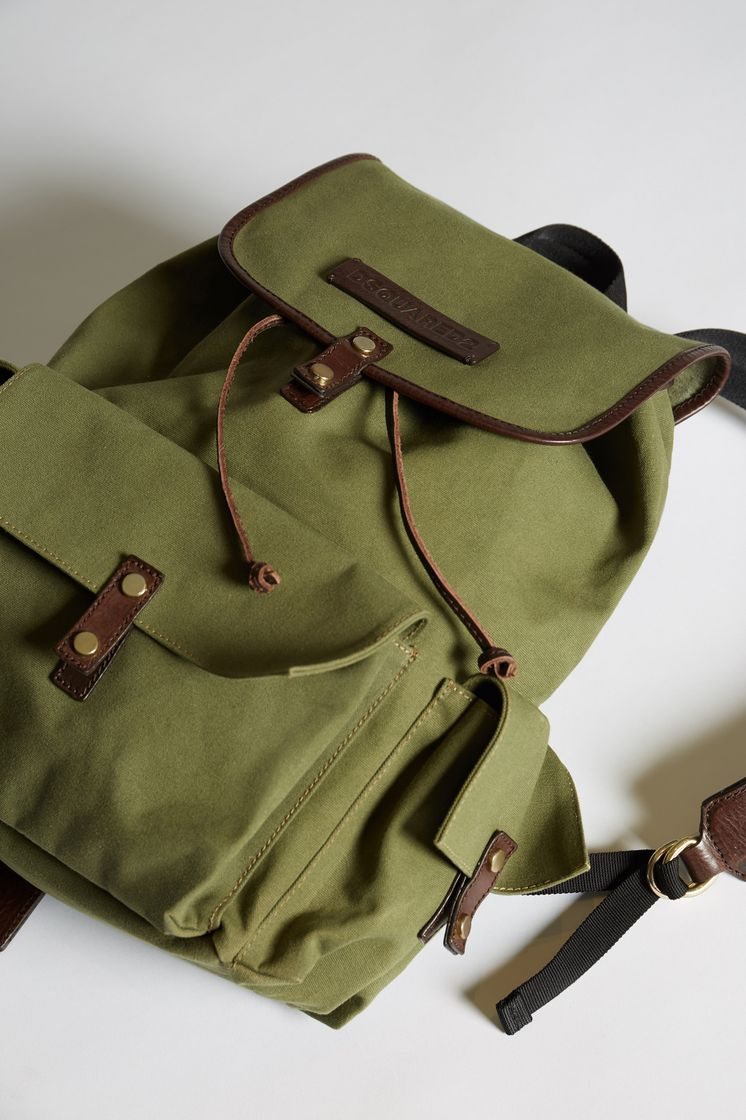 266612f7777c Bad Scout Military Trimmed Backpack. DSQUARED2 Bad Scout Military Trimmed  Backpack Rucksack Man