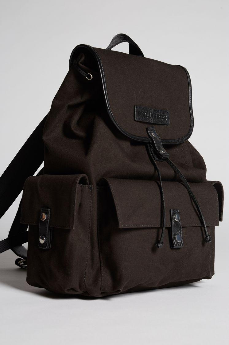 379fecd5bd11 DSQUARED2 Bad Scout Military Trimmed Backpack Rucksack Man