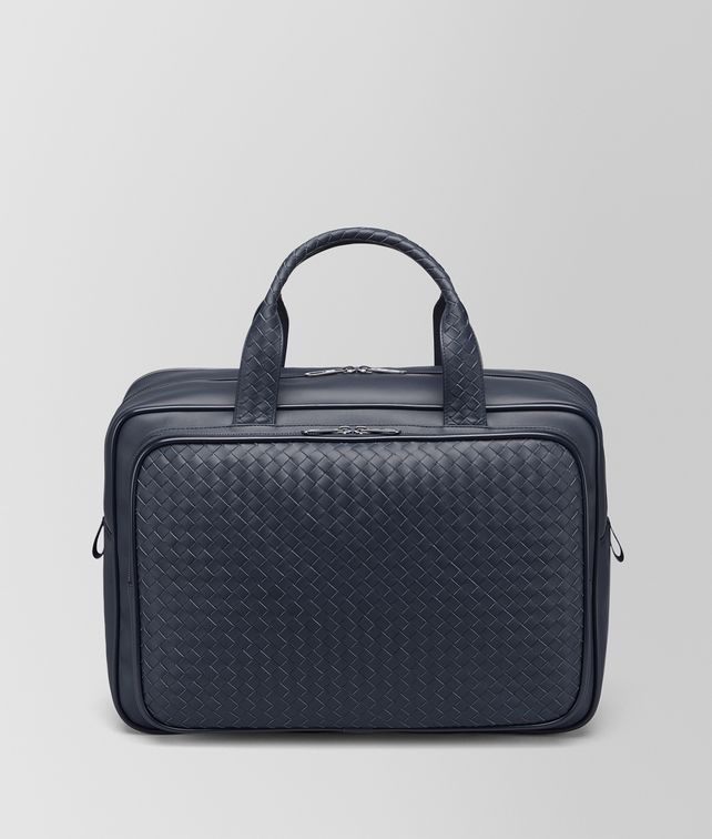 BOTTEGA VENETA TRAVEL BAG IN LIGHT TOURMALINE INTRECCIATO VN Travel Bags E fp