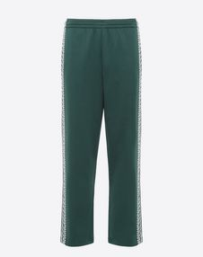 VALENTINO UOMO Trousers U Jersey trousers with geometric embroidery f