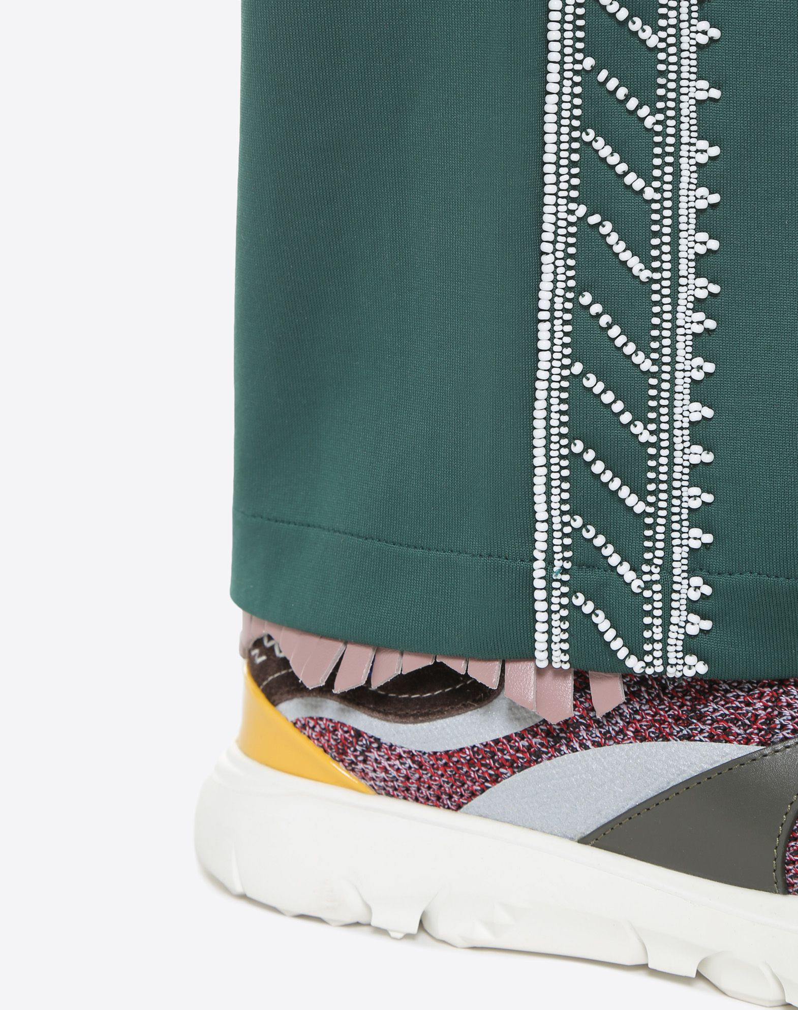 VALENTINO UOMO Jersey trousers with geometric embroidery Trousers U a