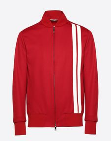 VALENTINO UOMO JACKET U Blouson with vertical stripe inlays f