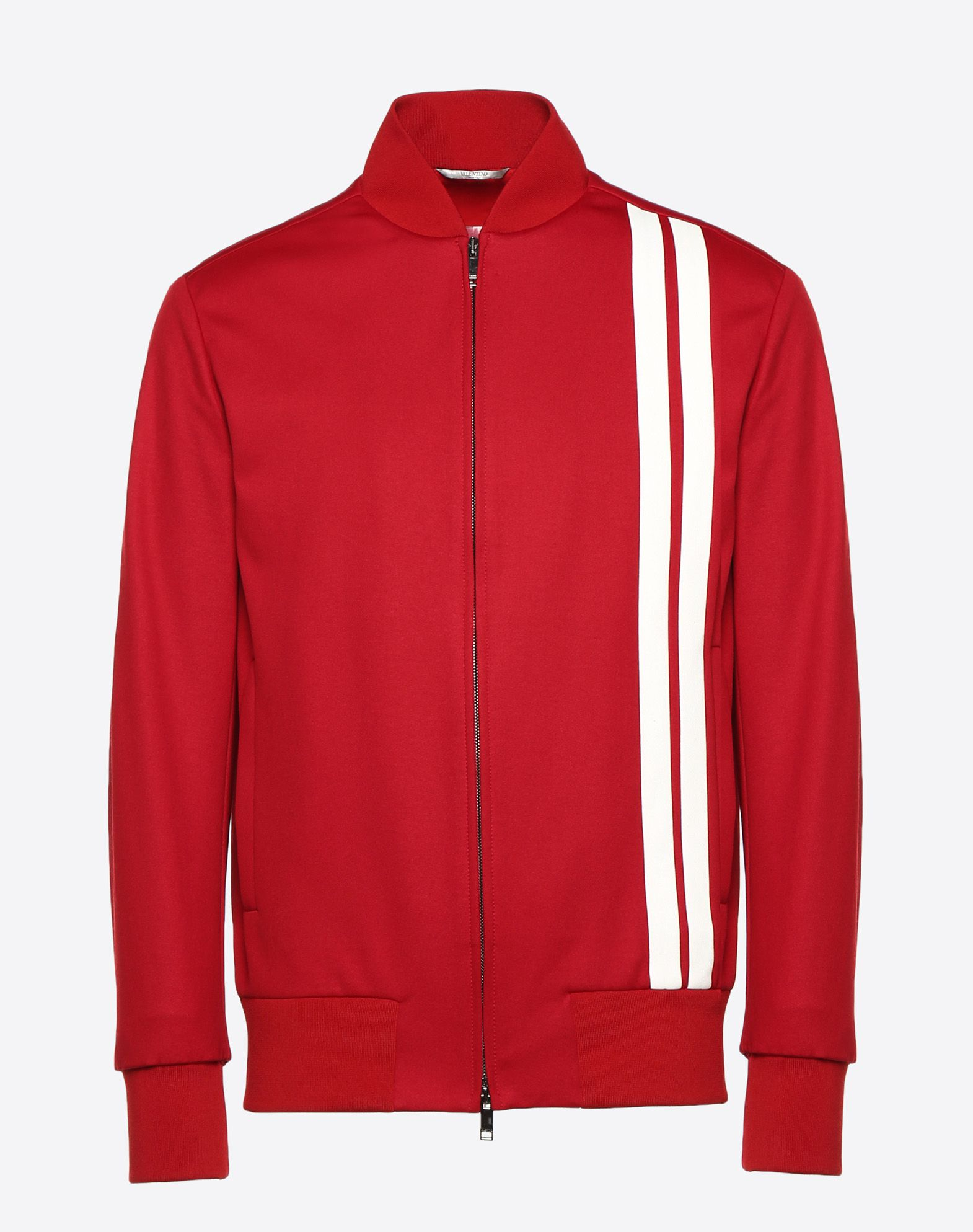VALENTINO UOMO Blouson with vertical stripe inlays JACKET U f