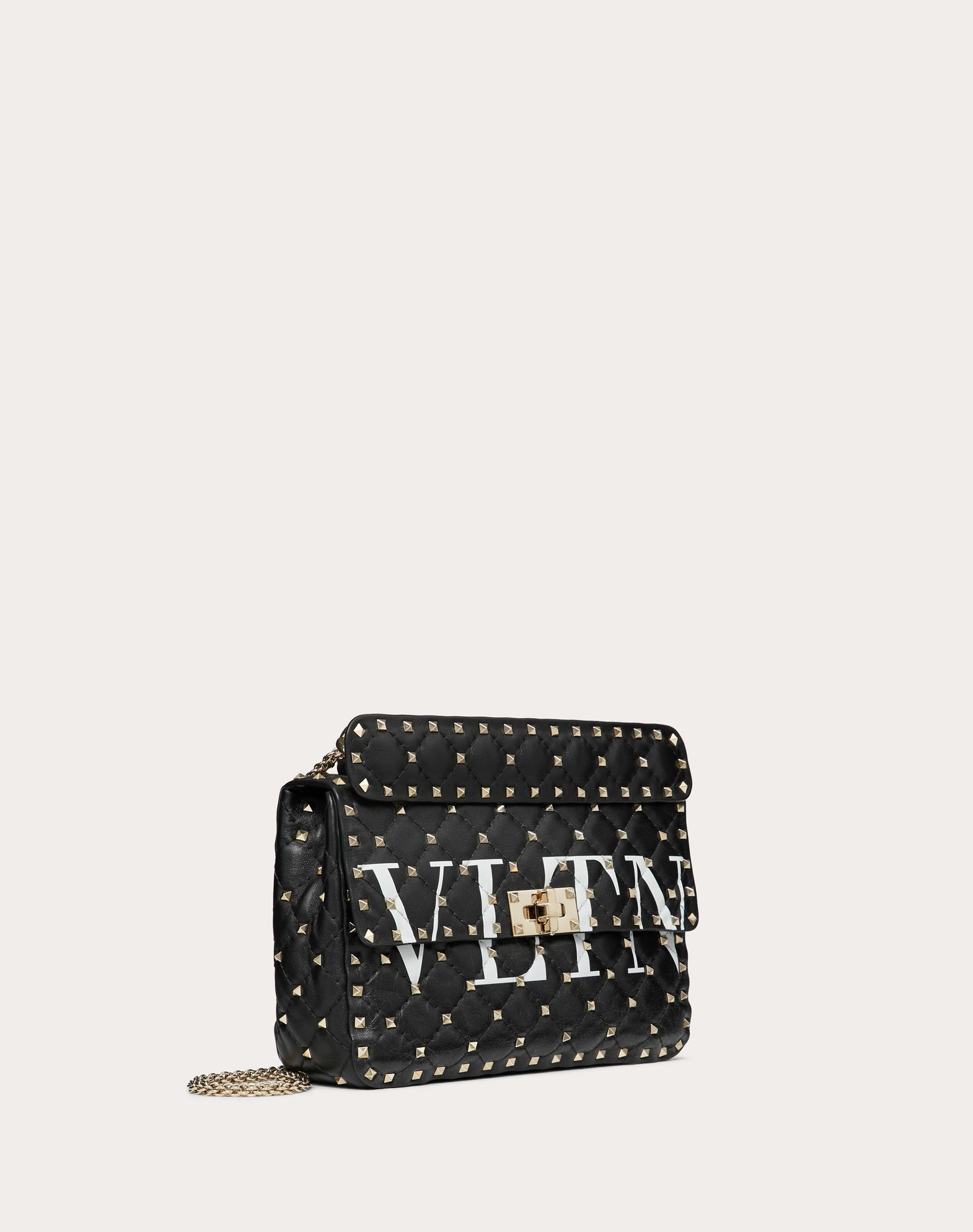 VALENTINO GARAVANI Rockstud Spike.It Medium Chain Bag Shoulder bag D r
