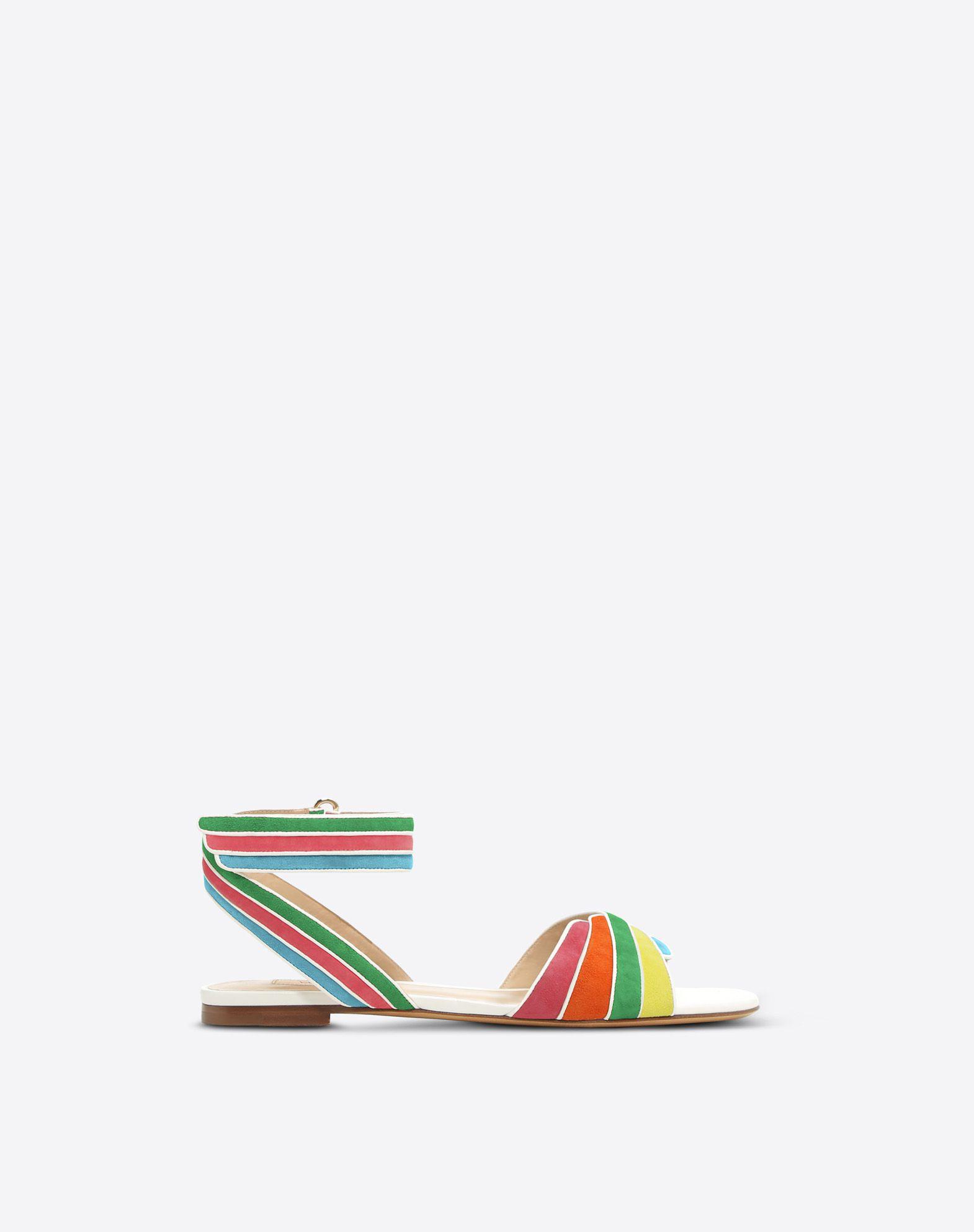 VALENTINO GARAVANI Sandalias multicolores FLAT SANDALS D f