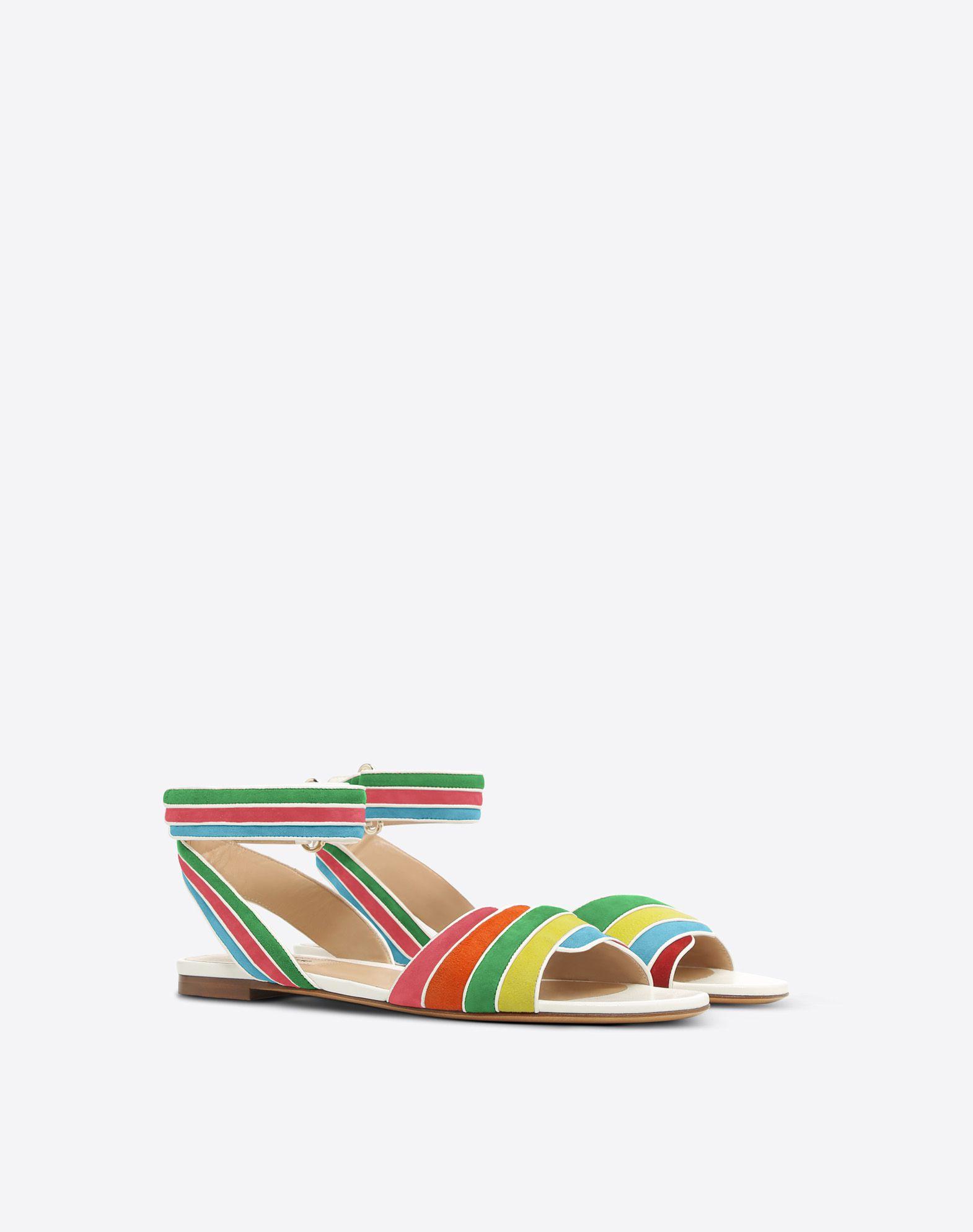 VALENTINO GARAVANI Sandalias multicolores FLAT SANDALS D r