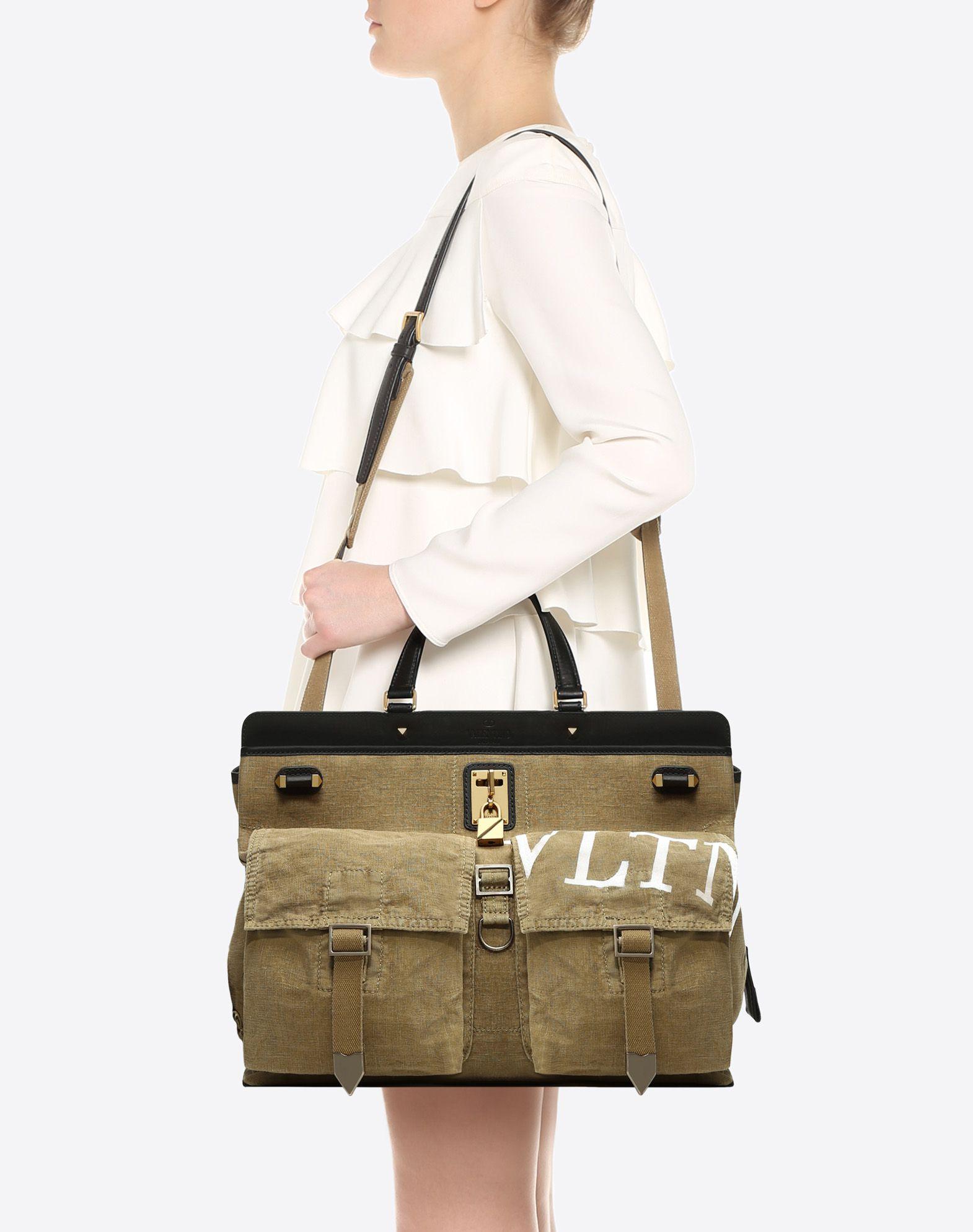 VALENTINO GARAVANI Joylock Maxi Handle Bag HANDBAG D a