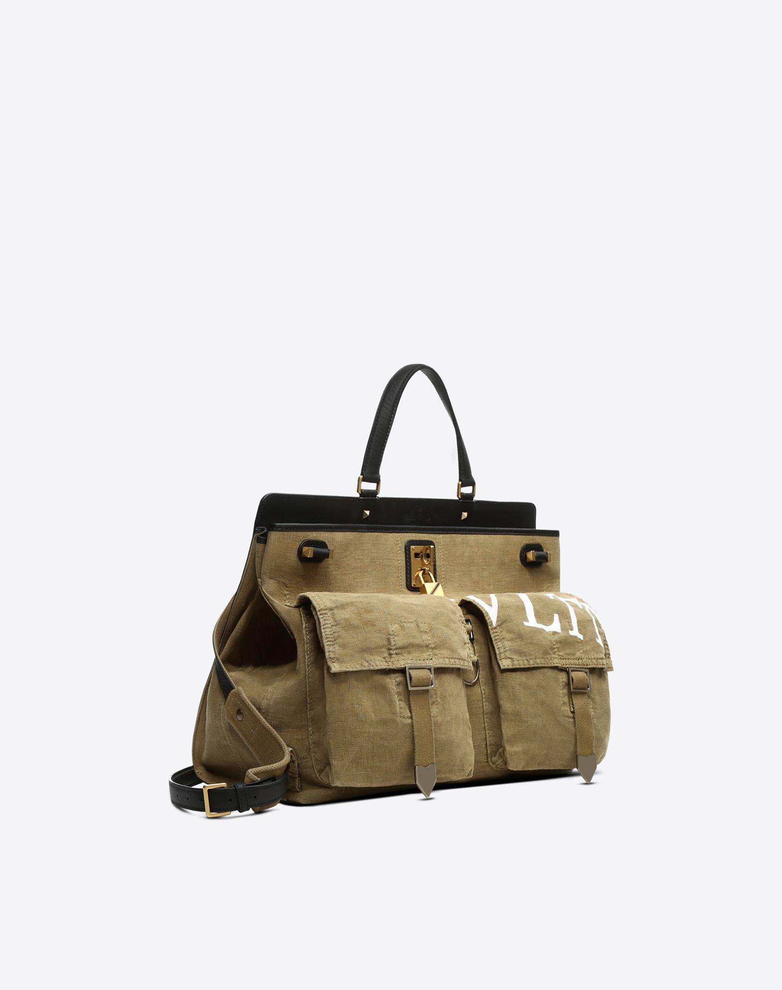 VALENTINO GARAVANI Joylock Maxi Handle Bag HANDBAG D r