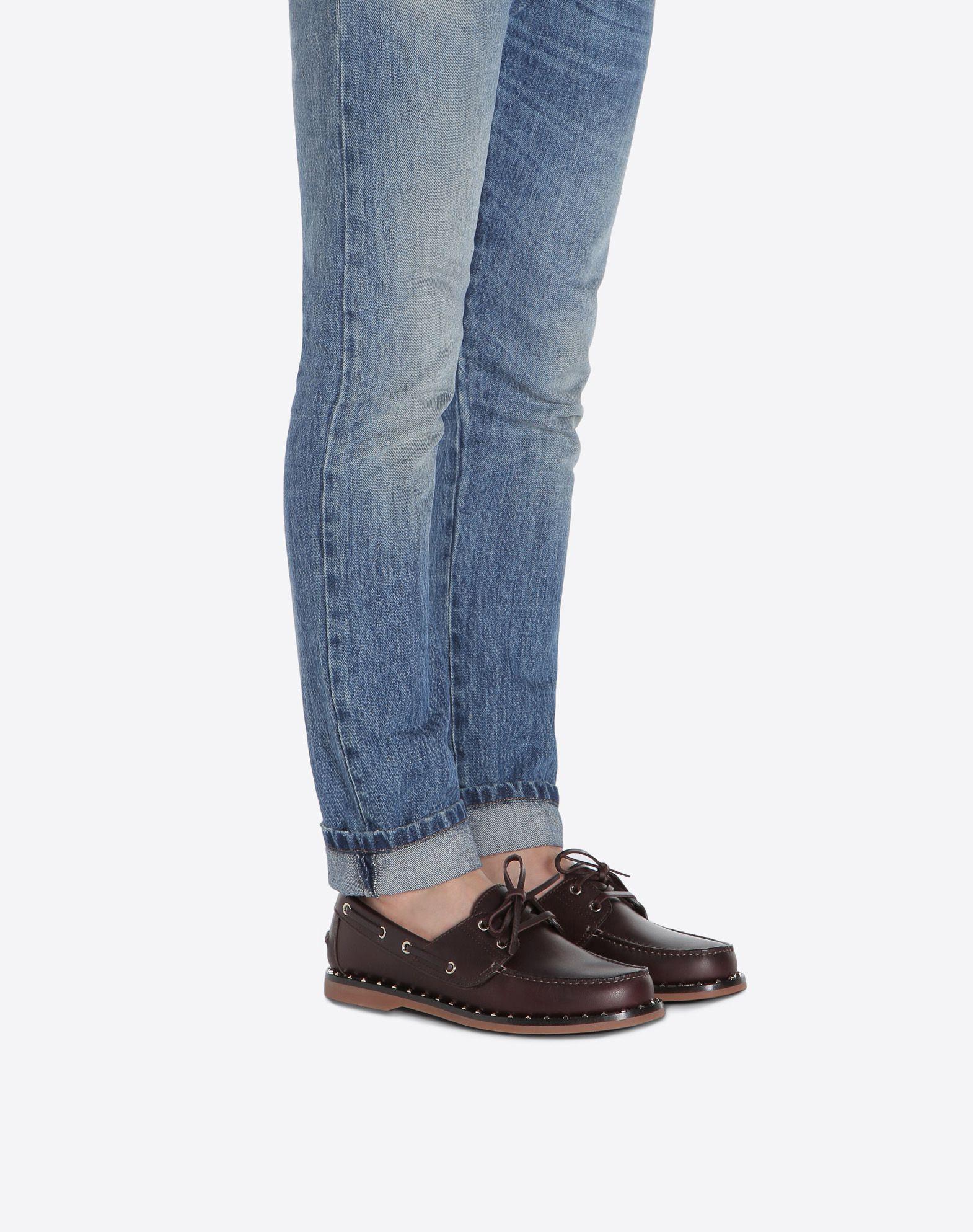 VALENTINO GARAVANI UOMO Soul Rockstud Boat shoes LOAFERS U a