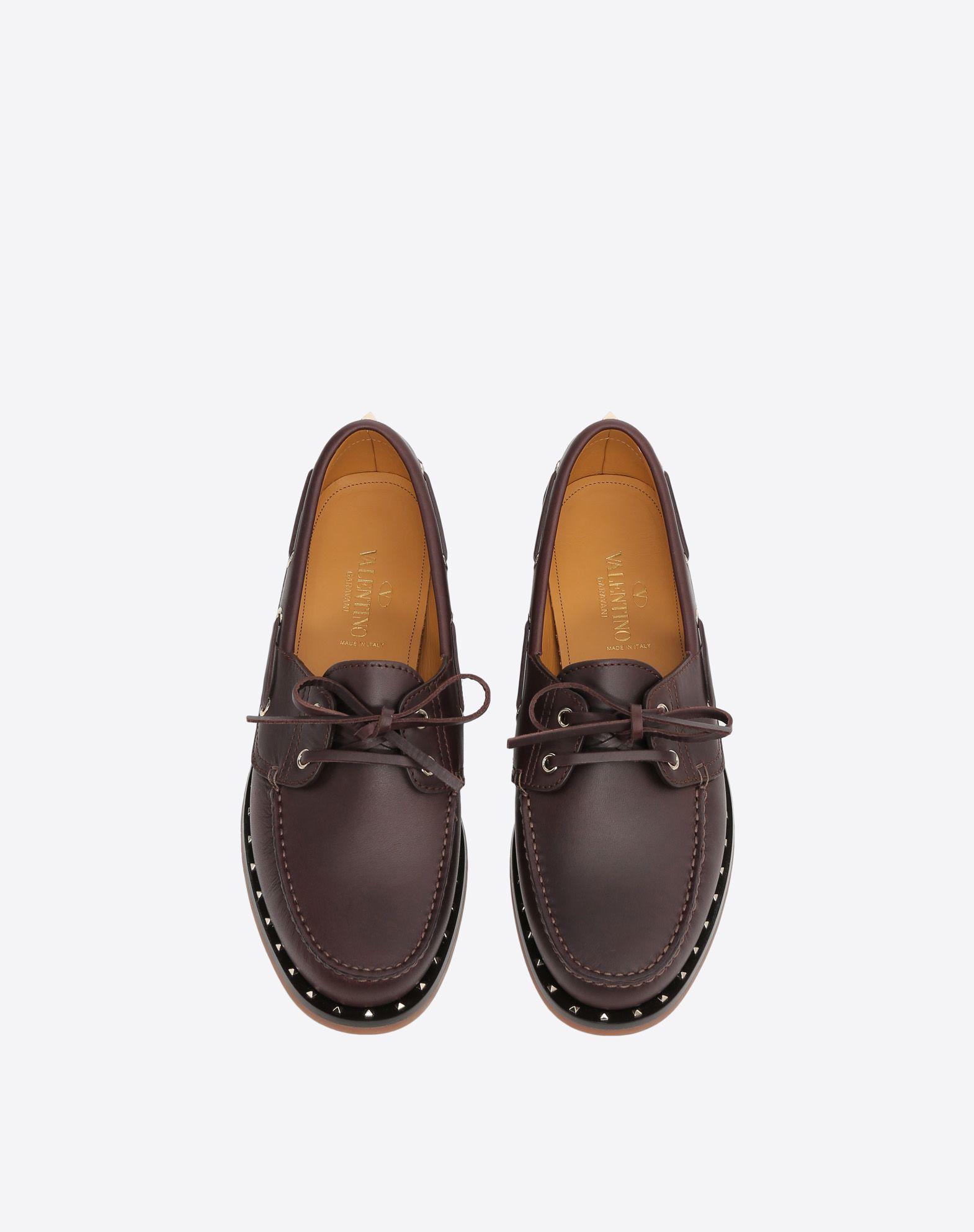 VALENTINO GARAVANI UOMO Soul Rockstud Boat shoes LOAFERS U e