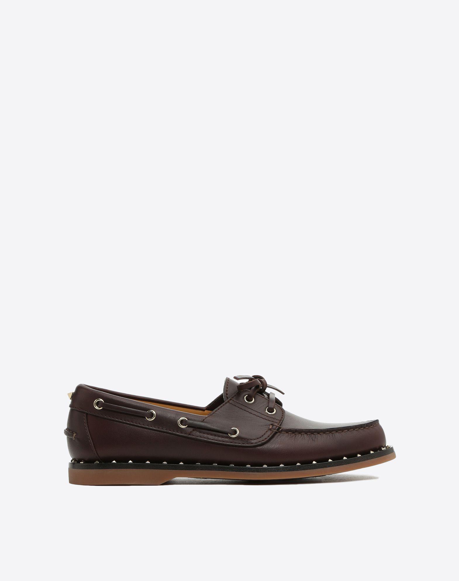 VALENTINO GARAVANI UOMO Soul Rockstud Boat shoes LOAFERS U f