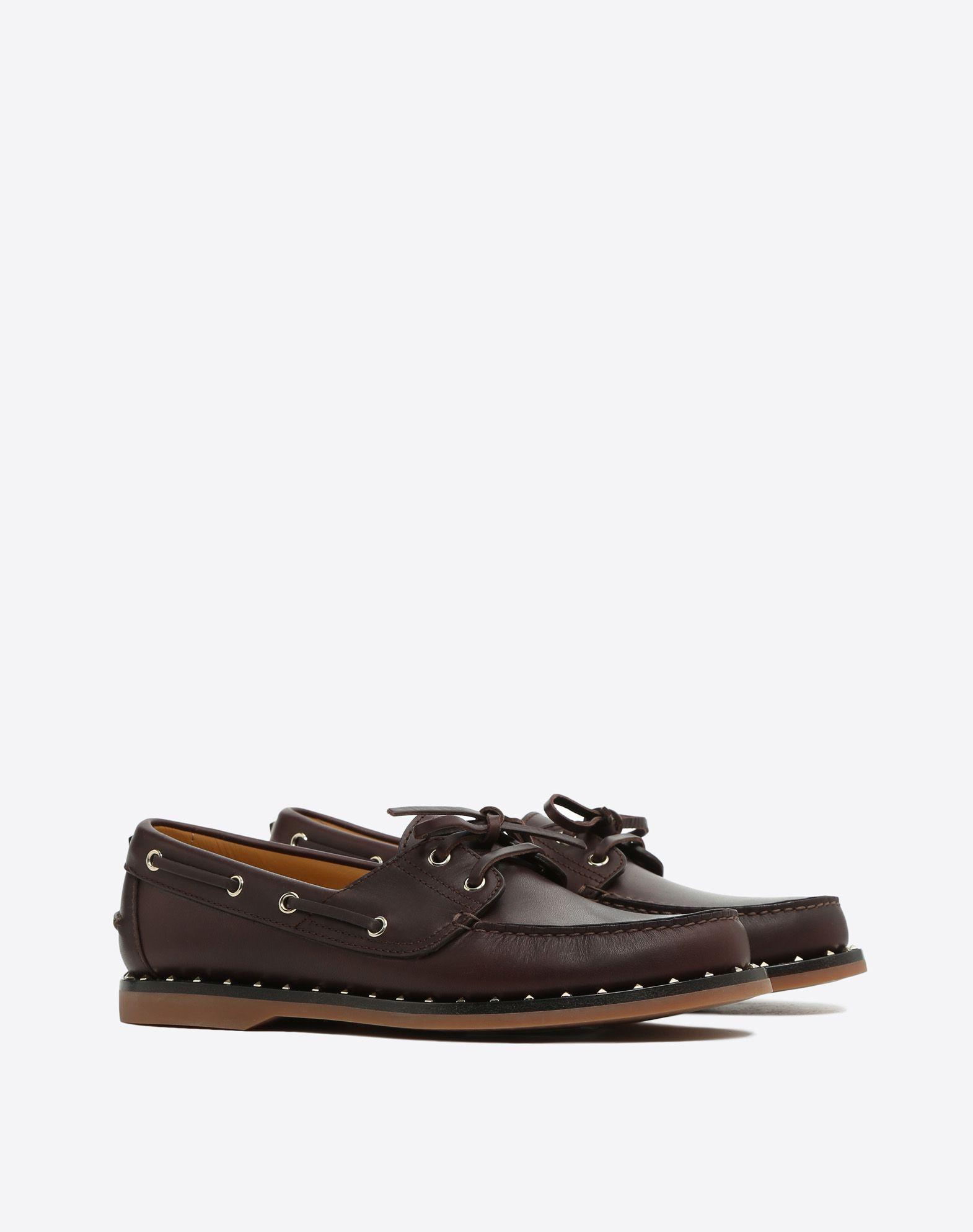 VALENTINO GARAVANI UOMO Soul Rockstud Boat shoes LOAFERS U r