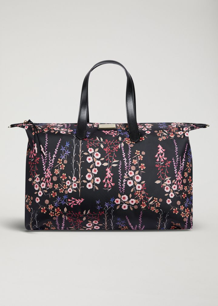 028ec424b7a EMPORIO ARMANI Tote bag in floral technical fabric Shopper Woman f