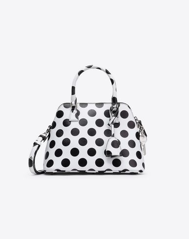 MAISON MARGIELA Mini polka dot 5AC Handbag Woman f