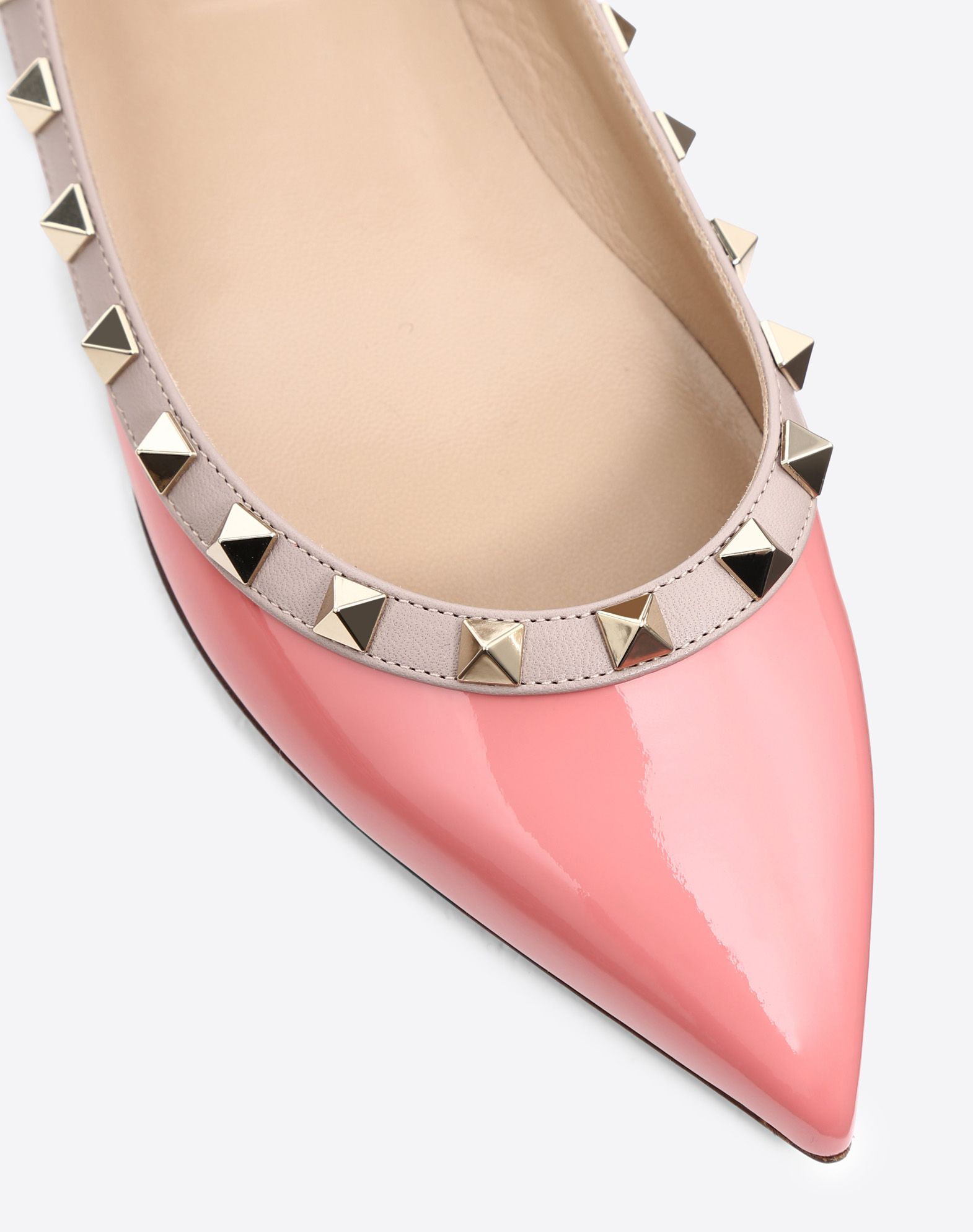 VALENTINO Metal Applications Narrow toeline Flat Leather sole Solid colour  45398443ft