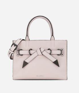 KARL LAGERFELD K/ROCKY BOW SMALL SHOPPER