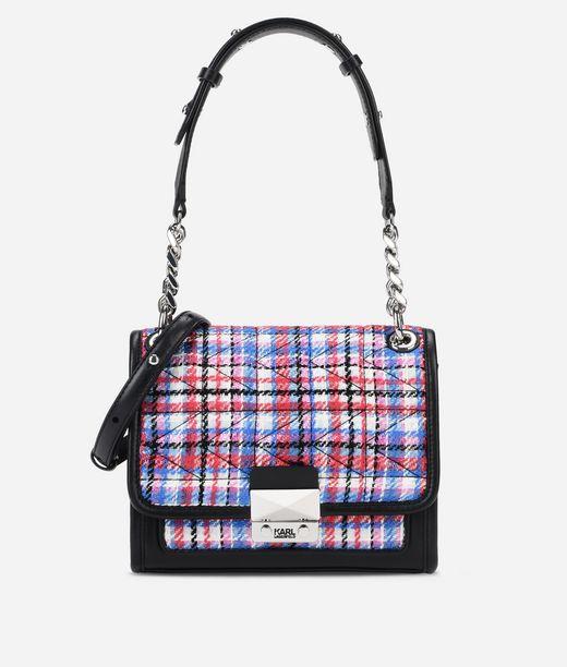 KARL LAGERFELD K/Kuilted Tweed Handbag 12_f