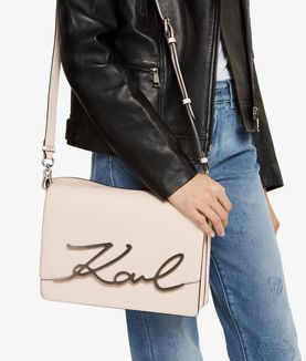 KARL LAGERFELD K/SIGNATURE BIG SHOULDER BAG