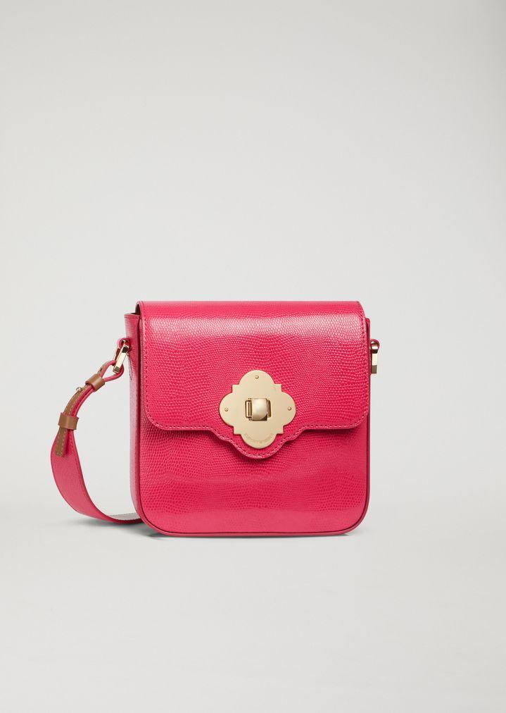 f5dca66b94 Lizard print leather bag   Woman   Emporio Armani