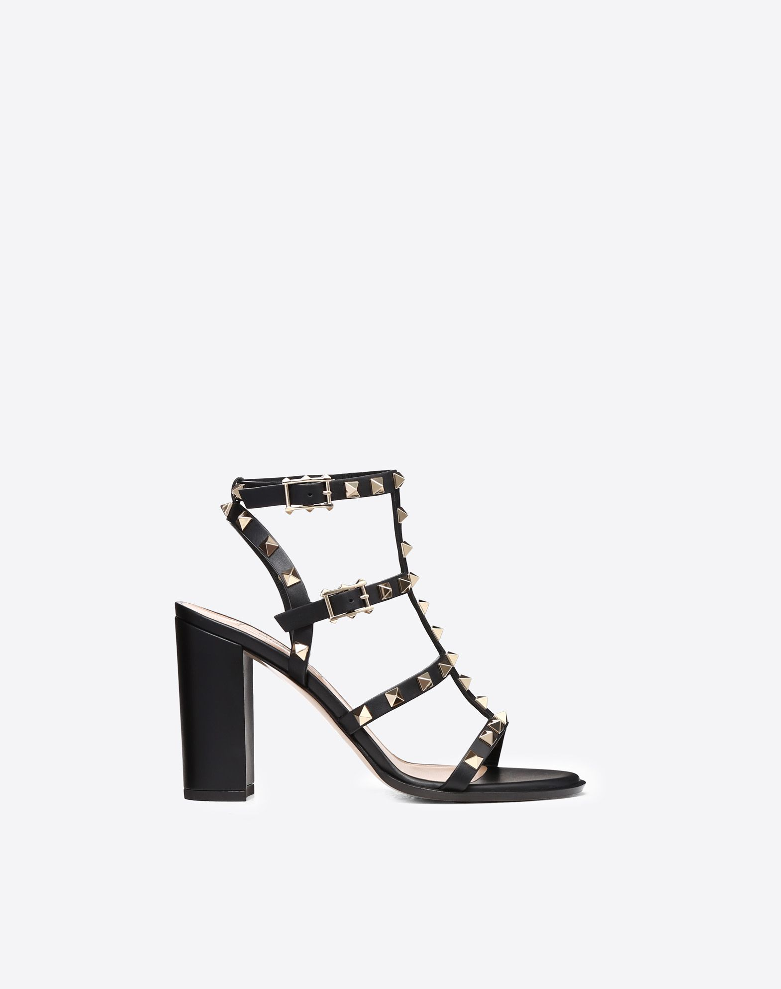 VALENTINO Studs Solid colour Leather sole Buckle  45399357hk