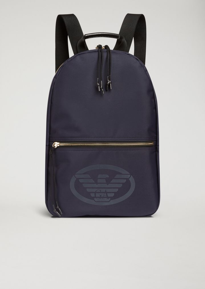 d527a09d6917 Technical fabric backpack with logo