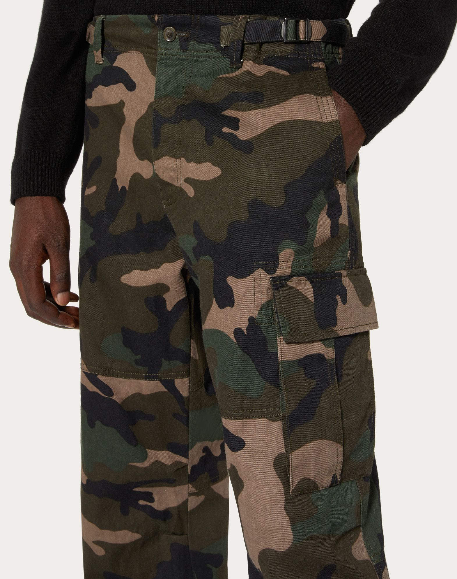 VALENTINO UOMO Camouflage cargo pants Trousers U a