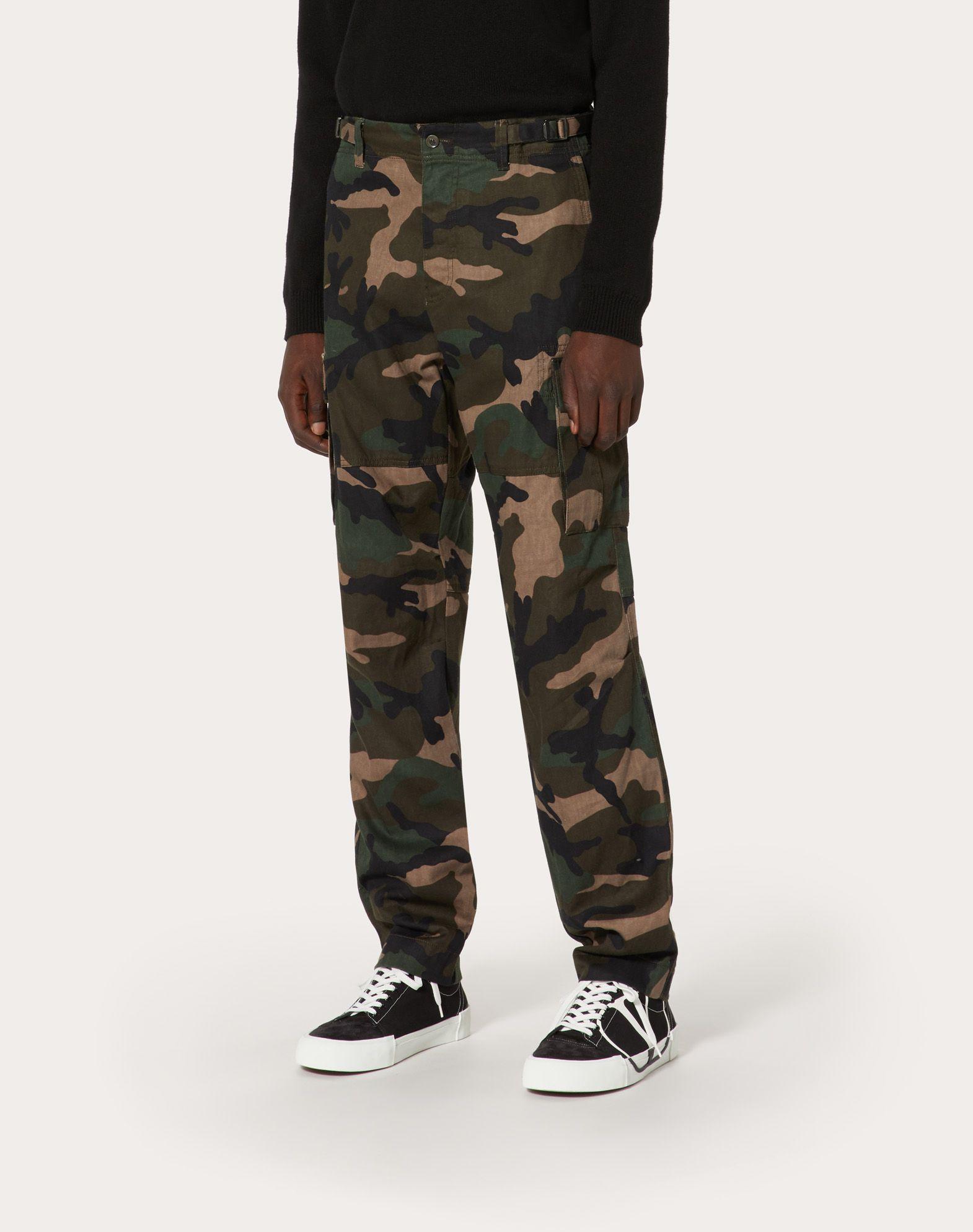 VALENTINO UOMO Camouflage cargo pants Trousers U d