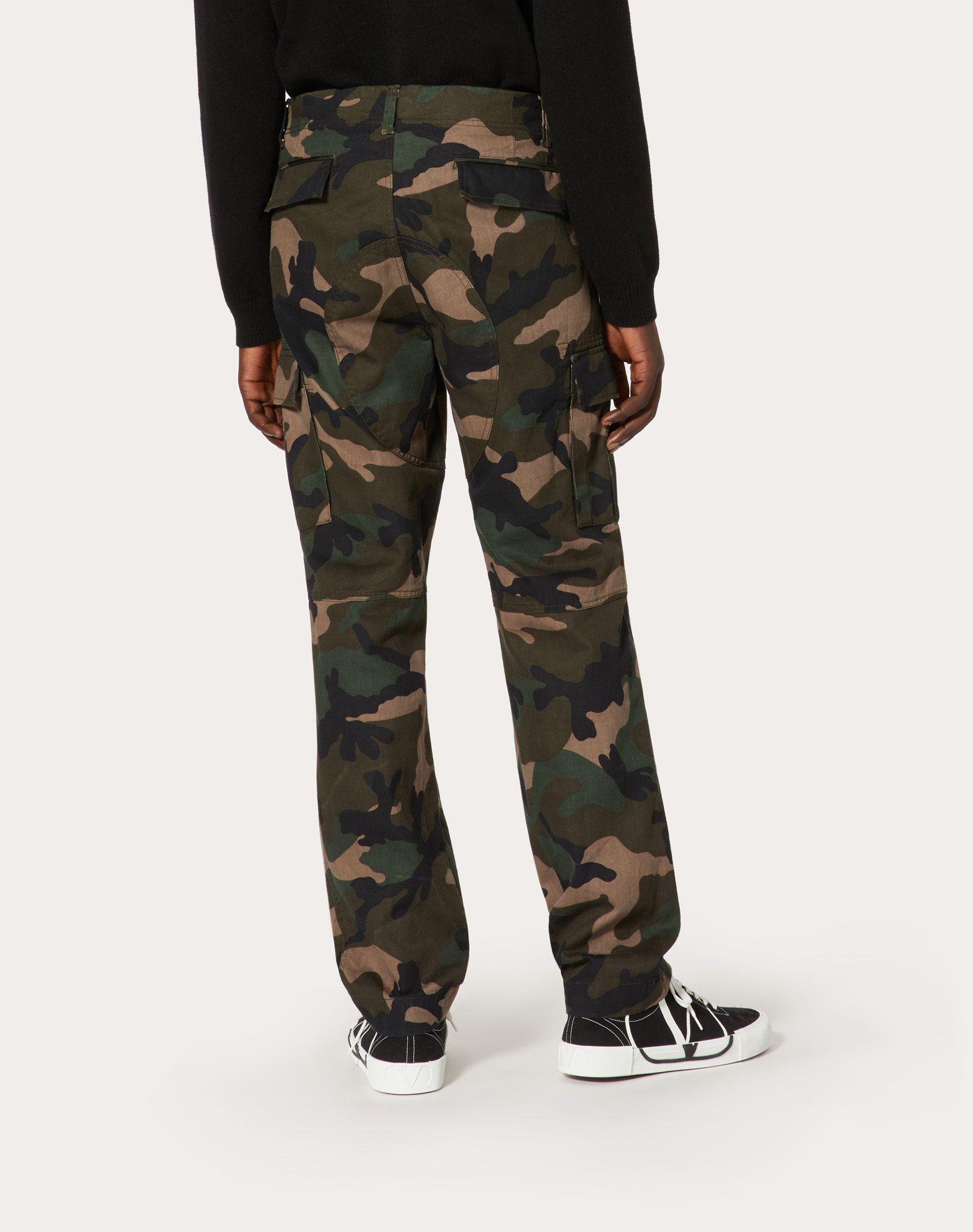 VALENTINO UOMO Camouflage cargo pants Trousers U e