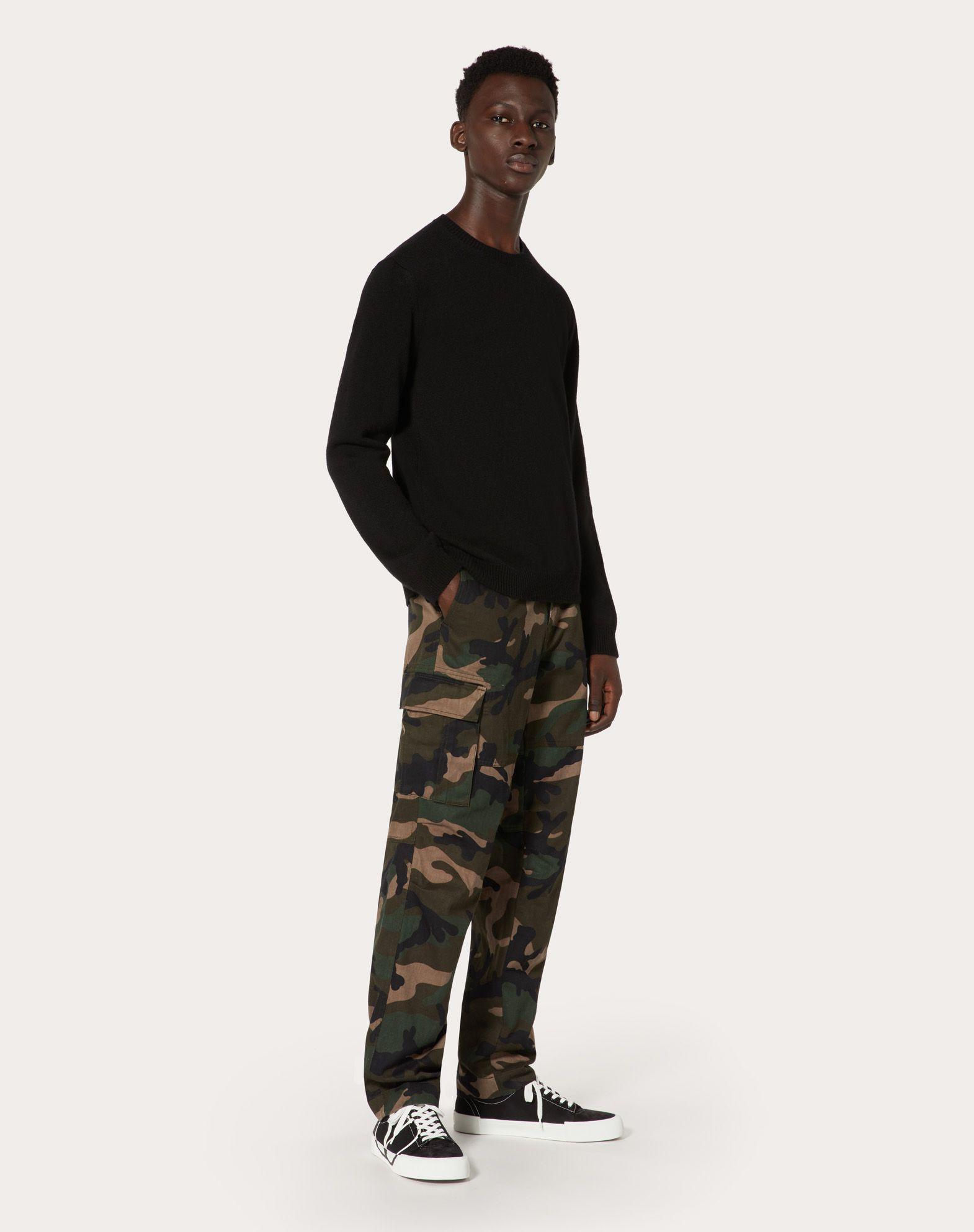 VALENTINO UOMO Camouflage cargo pants Trousers U r