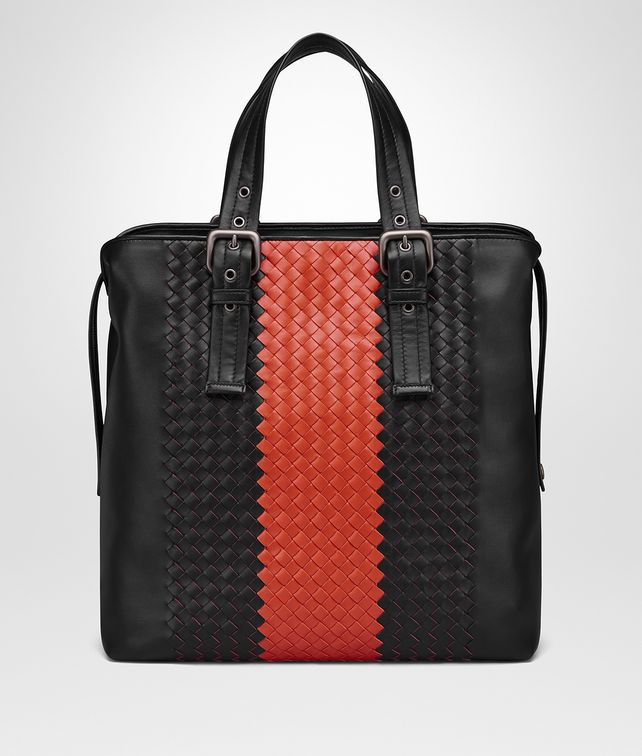 BOTTEGA VENETA NERO TERRACOTTA INTRECCIATO NAPPA TOTE Tote Bag [*** pickupInStoreShippingNotGuaranteed_info ***] fp