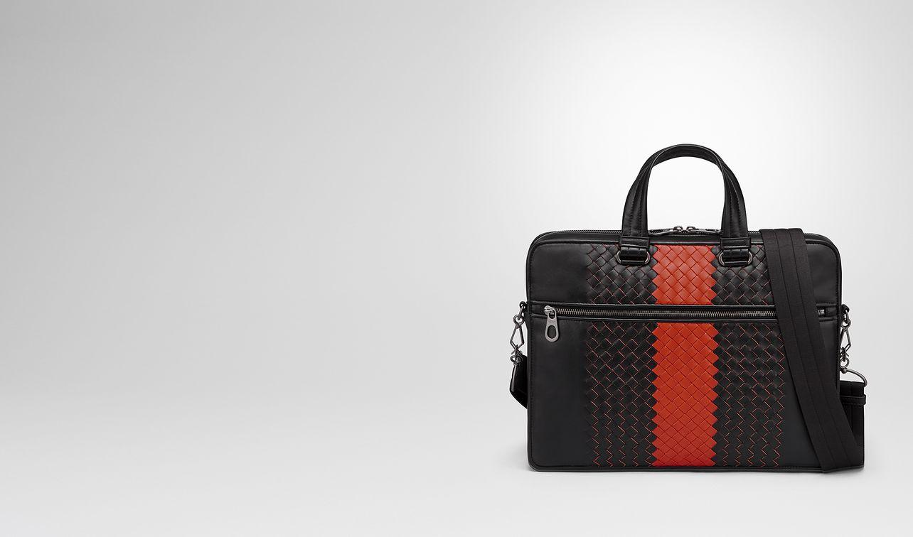 nero intrecciato nappa briefcase landing