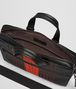 nero intrecciato nappa briefcase Back Portrait