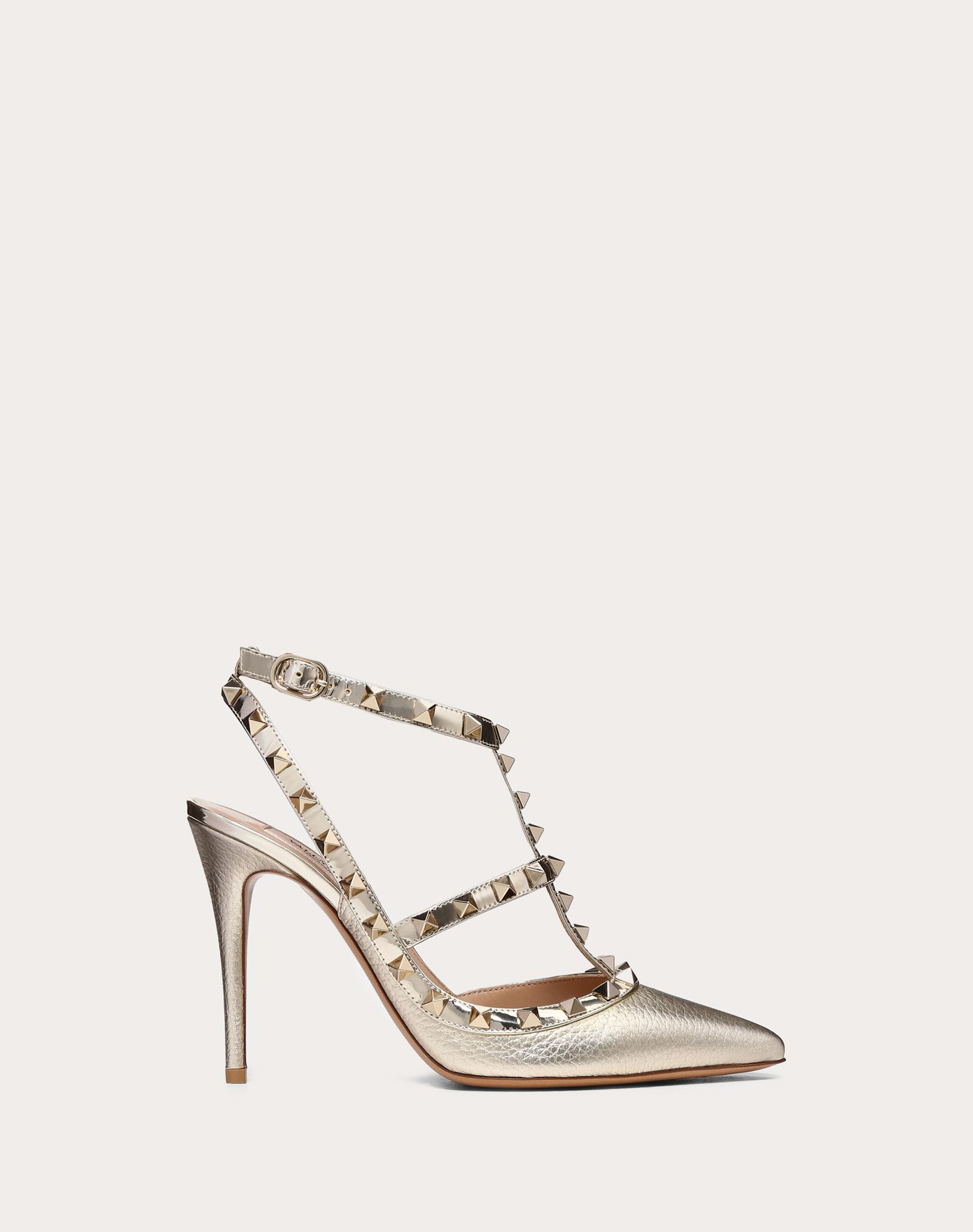 5dbbf242cff Valentino Metallic Rockstud Pump 100Mm In Platinum