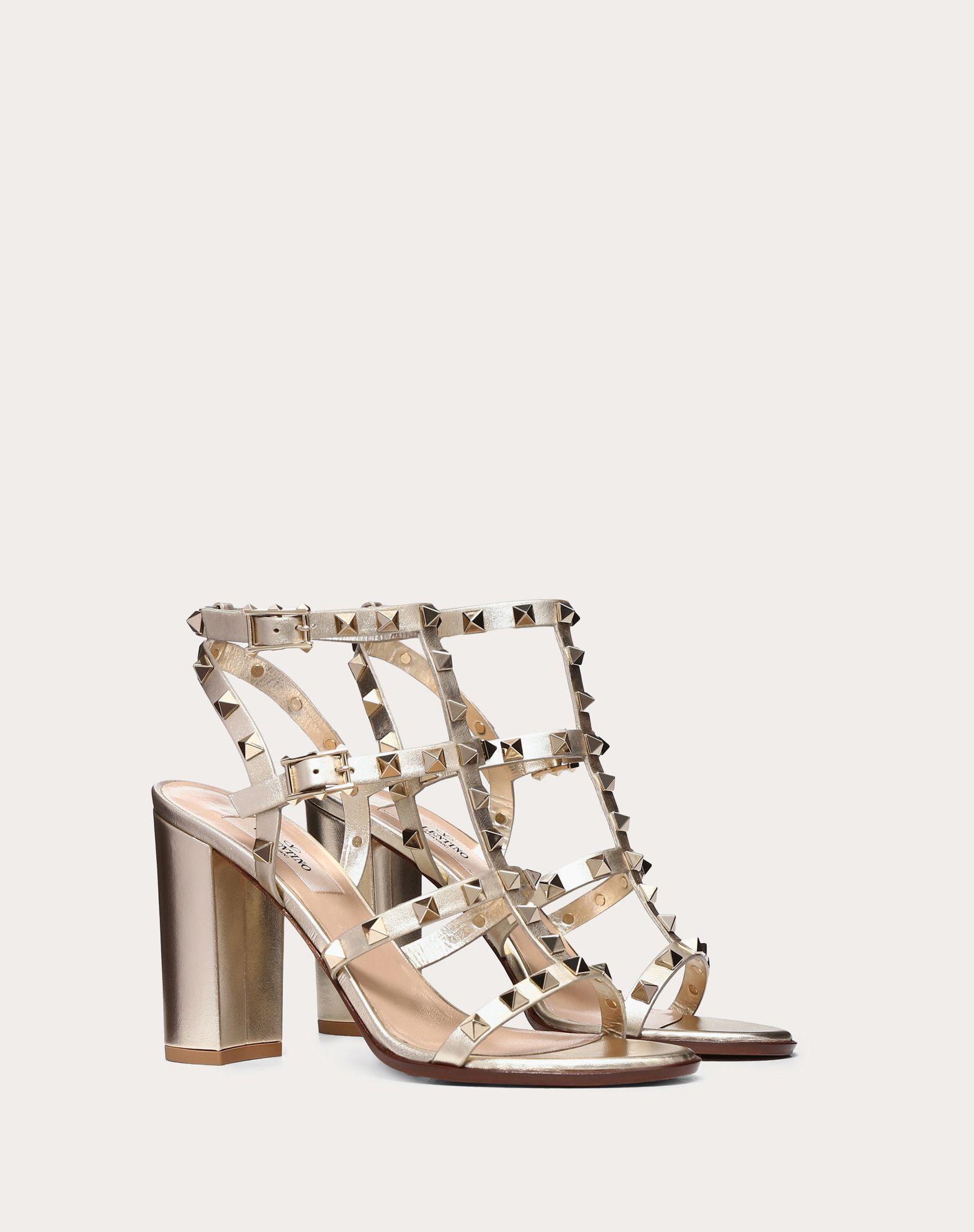 VALENTINO GARAVANI Rockstud Sandal HIGH HEEL SANDALS D r