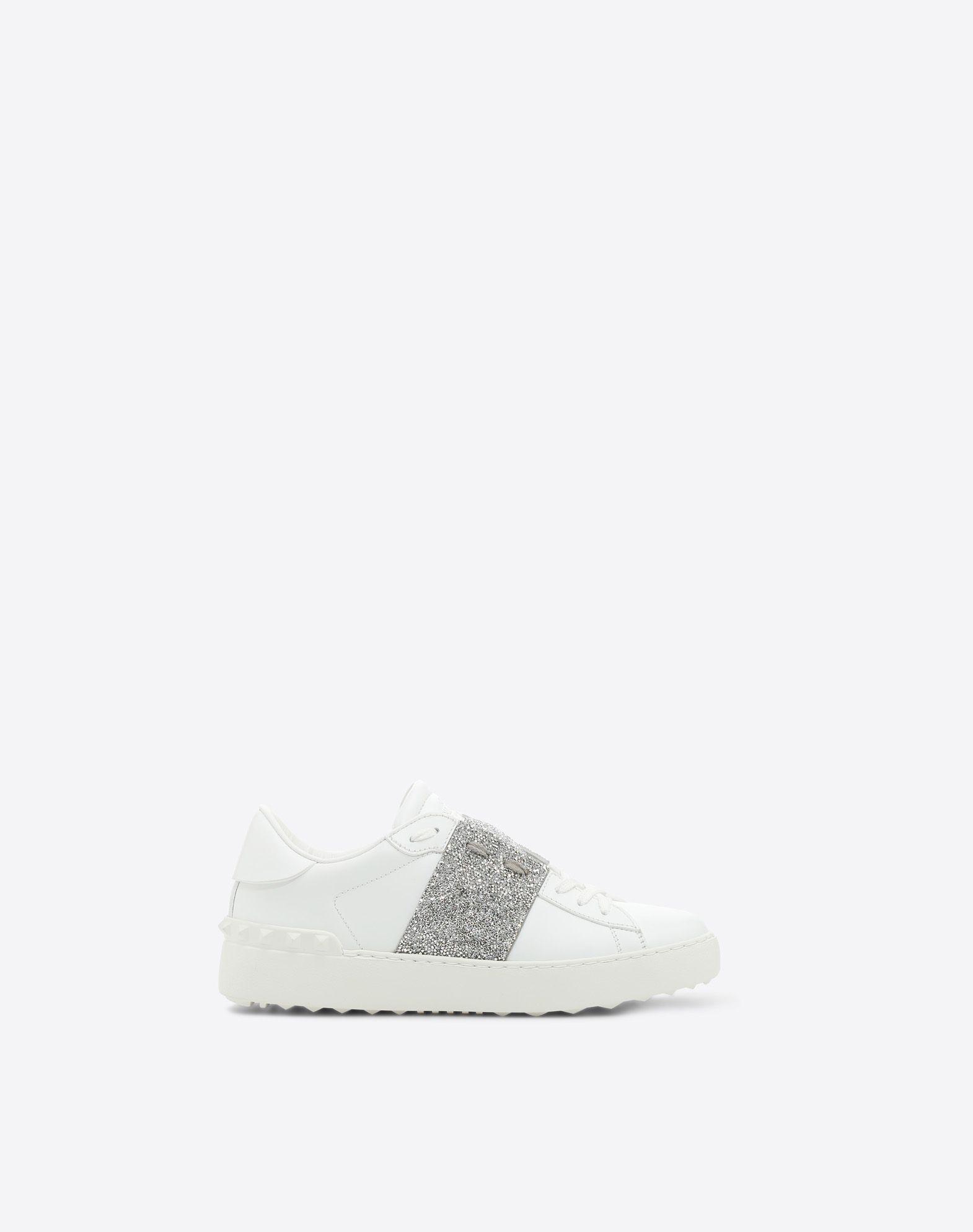 Valentino Garavani Two-tone Metallic Leather Sneakers - White Valentino Q5mxY9aVt1