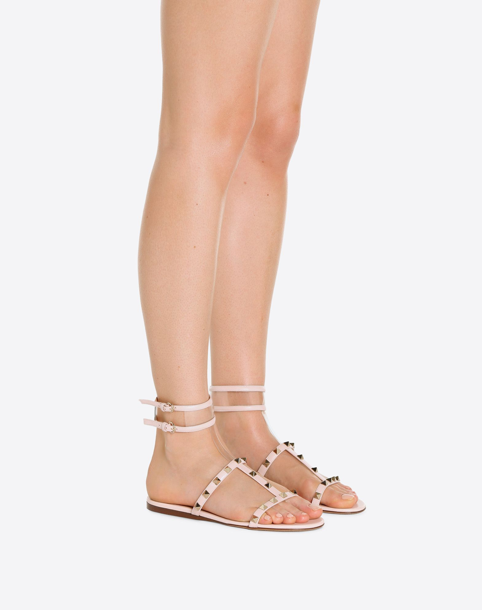 VALENTINO GARAVANI See-through flat sandal FLAT SANDALS D a