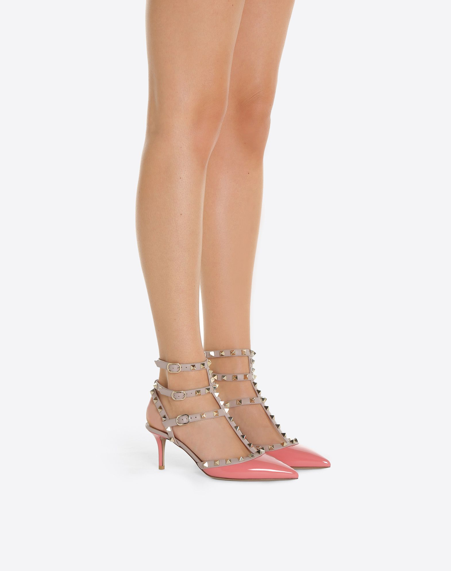 VALENTINO GARAVANI Rockstud Ankle Strap Pump MEDIUM HEEL PUMPS D a