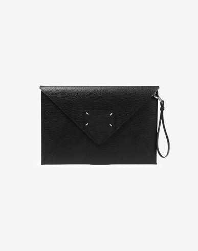 MAISON MARGIELA Clutch Woman Calfskin zip pouch f