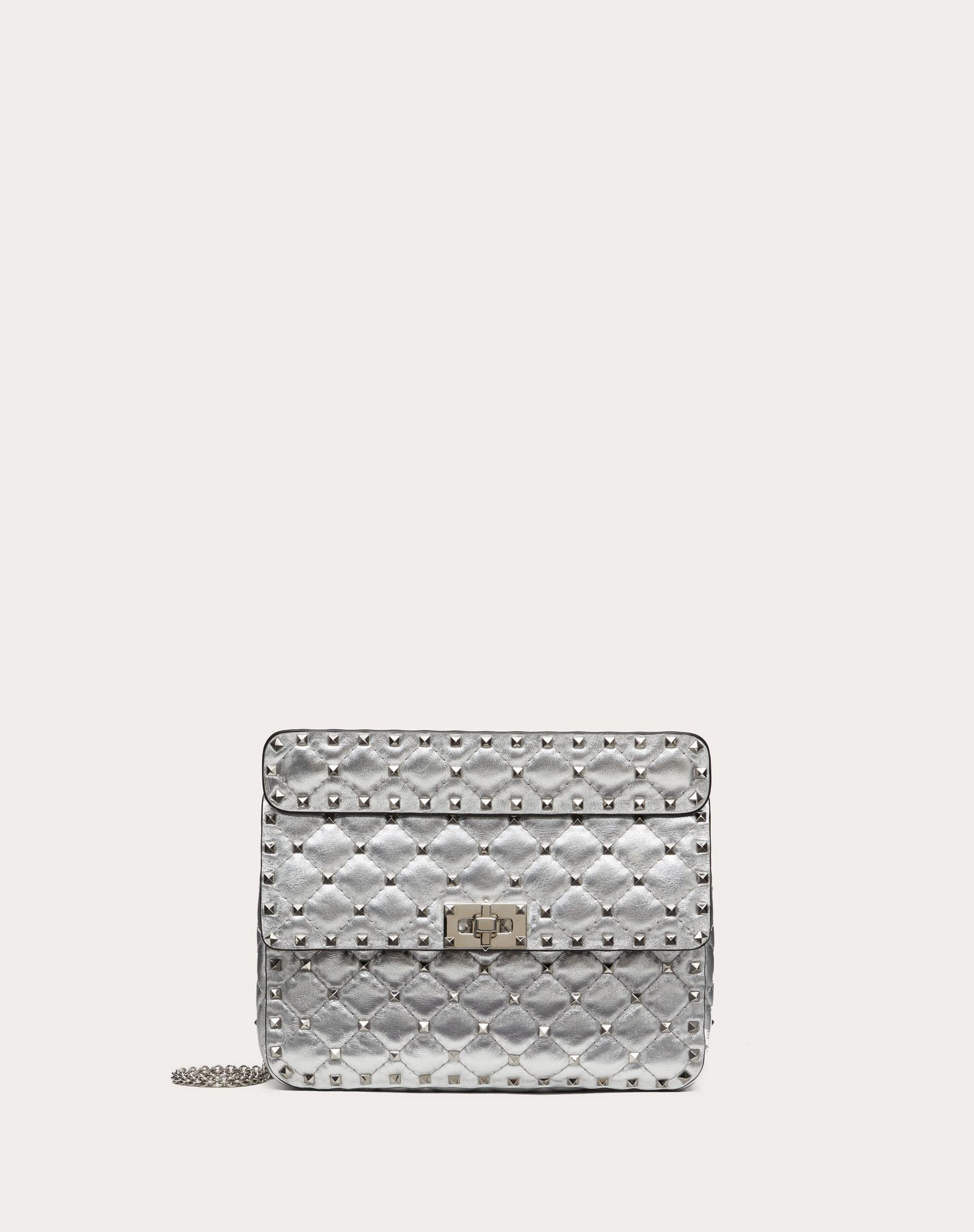 VALENTINO Studs Solid color Framed closure Internal pocket Removable shoulder strap  45400753rr