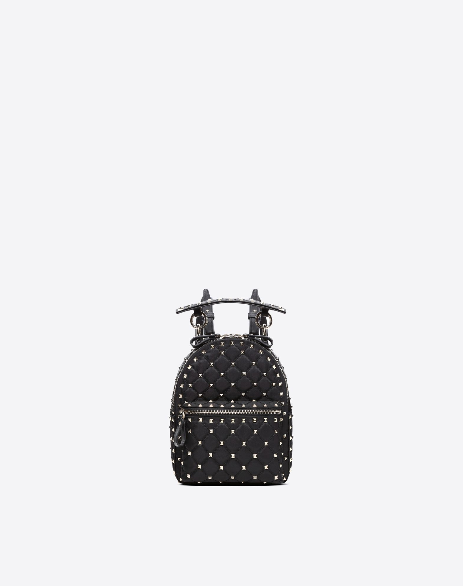 VALENTINO Techno fabric Studs Solid color Dual zip closure External pocket Internal pocket  45400754fv