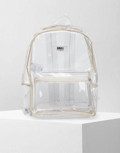 MM6 MAISON MARGIELA Backpack Woman Transparent PVC backpack f